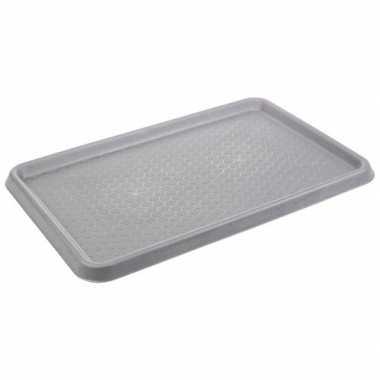 Grijze laars uitloop mat / kofferbak mat 40 x 60 cm