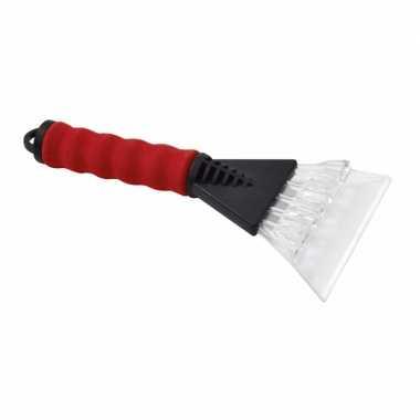 Ijskrabber soft grip rood 25 cm
