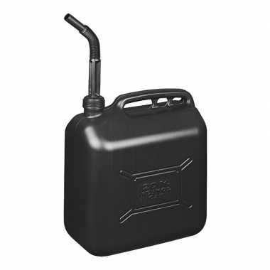 Jerrycan/watertank met schenktuit 20 liter zwart