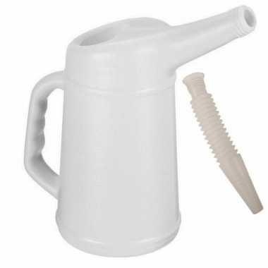 Motorolie/koelvloeistof kan met schenktuit 4 liter