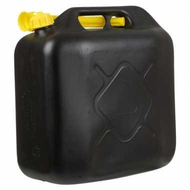 Zwarte jerrycan/watertank met schenktuit 20 liter