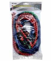 9x bagagespinnen snelbinders groen rood blauw 60 80 100 cm